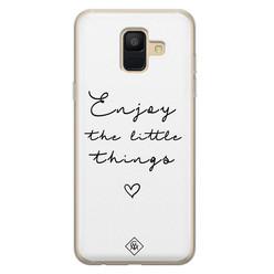 Casimoda Samsung Galaxy A6 2018 siliconen hoesje - Enjoy life