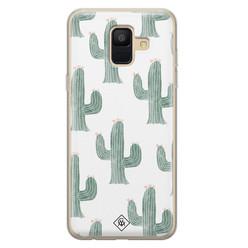 Casimoda Samsung Galaxy A6 2018 siliconen hoesje - Cactus print