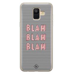 Casimoda Samsung Galaxy A6 2018 siliconen hoesje - Blah blah blah
