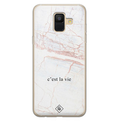 Casimoda Samsung Galaxy A6 2018 siliconen hoesje - C'est la vie