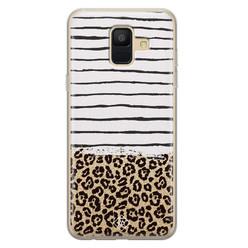 Casimoda Samsung Galaxy A6 2018 siliconen hoesje - Leopard lines