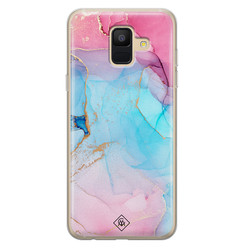 Casimoda Samsung Galaxy A6 2018 siliconen hoesje - Marble colorbomb