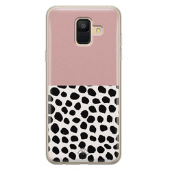 Casimoda Samsung Galaxy A6 2018 siliconen hoesje - Pink dots