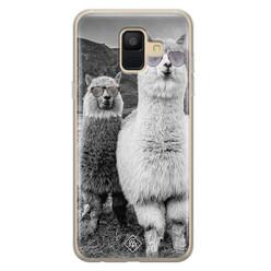 Casimoda Samsung Galaxy A6 2018 siliconen hoesje - Llama hipster