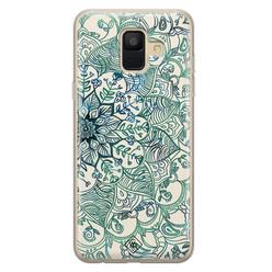 Casimoda Samsung Galaxy A6 2018 siliconen hoesje - Mandala blauw