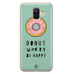 Casimoda Samsung Galaxy A6 2018 siliconen hoesje - Donut worry