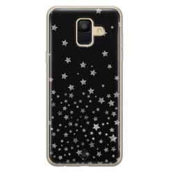Casimoda Samsung Galaxy A6 2018 siliconen hoesje - Falling stars