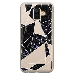 Casimoda Samsung Galaxy A6 2018 siliconen hoesje - Abstract painted