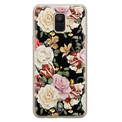 Casimoda Samsung Galaxy A6 2018 siliconen hoesje - Flowerpower