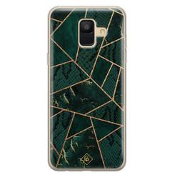 Casimoda Samsung Galaxy A6 2018 siliconen hoesje - Abstract groen
