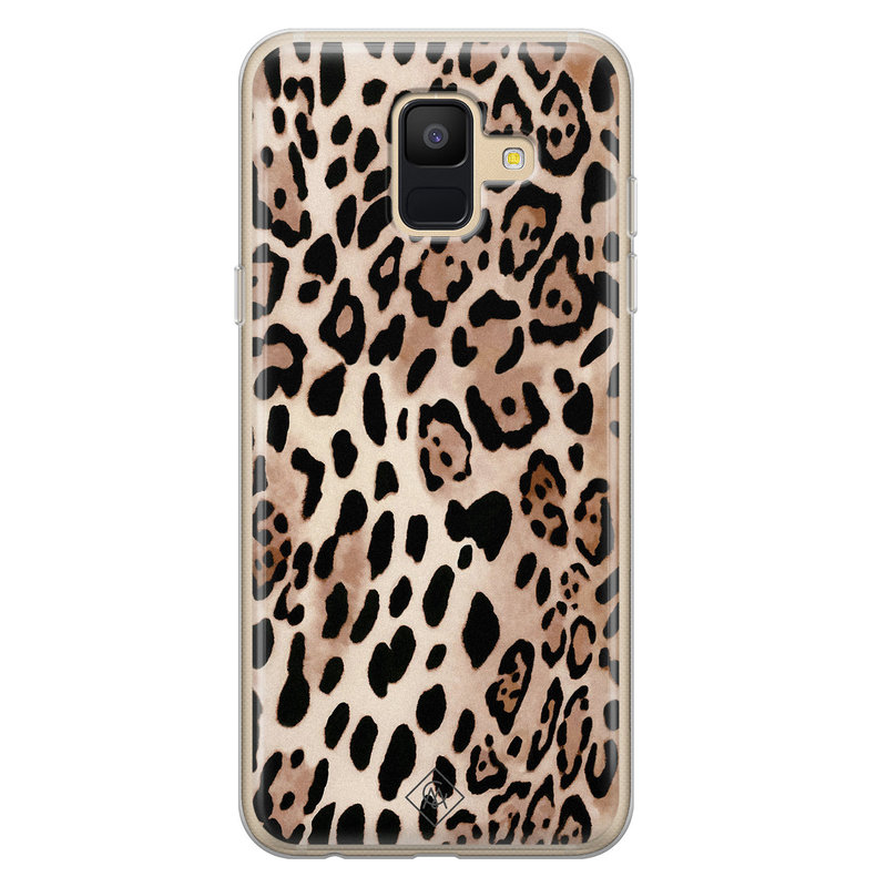 Casimoda Samsung Galaxy A6 2018 siliconen hoesje - Golden wildcat