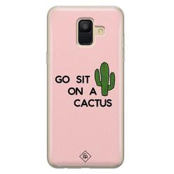 Casimoda Samsung Galaxy A6 2018 siliconen hoesje - Go sit on a cactus