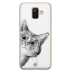 Casimoda Samsung Galaxy A6 2018 siliconen hoesje - Peekaboo