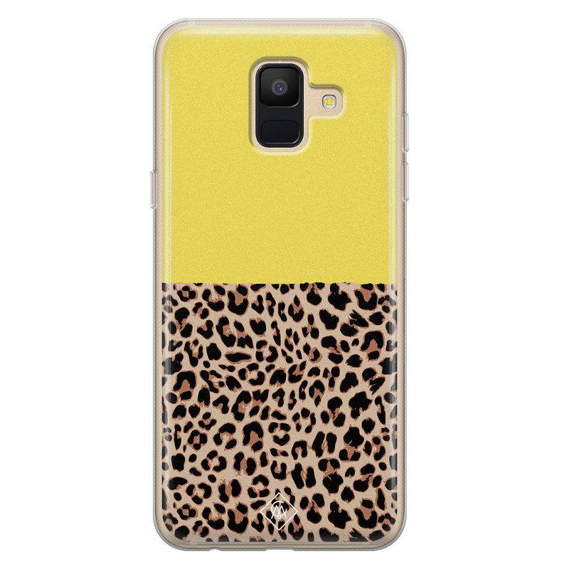 Casimoda Samsung Galaxy A6 2018 siliconen hoesjje - Luipaard geel