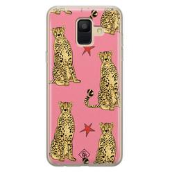 Casimoda Samsung Galaxy A6 2018 siliconen hoesje - The pink leopard