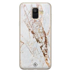 Casimoda Samsung Galaxy A6 2018 siliconen hoesje - Marmer goud