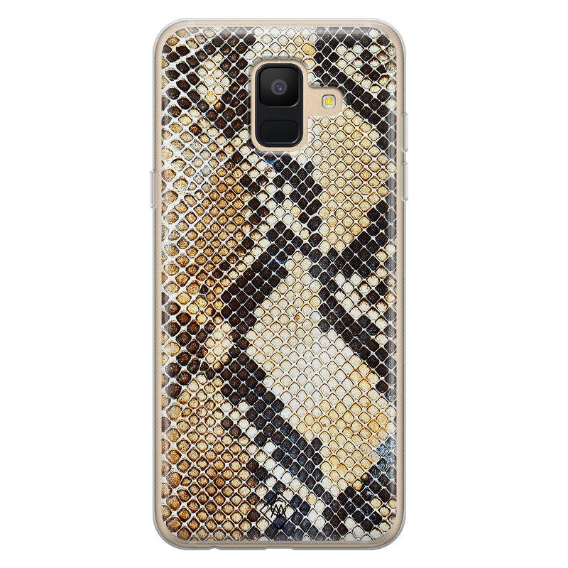 Casimoda Samsung Galaxy A6 2018 siliconen hoesje - Golden snake