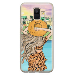 Casimoda Samsung Galaxy A6 2018 siliconen hoesje - Sunset girl