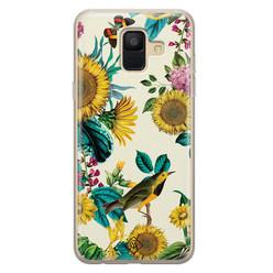Casimoda Samsung Galaxy A6 2018 siliconen hoesje - Sunflowers