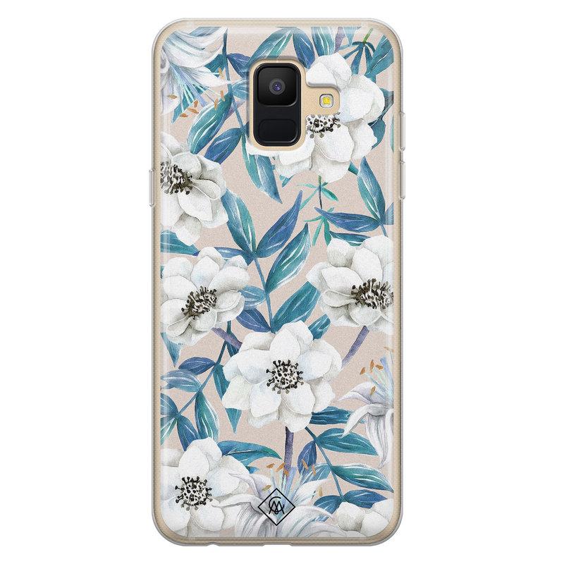 Casimoda Samsung Galaxy A6 2018 siliconen telefoonhoesje - Touch of flowers