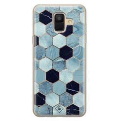 Casimoda Samsung Galaxy A6 2018 siliconen hoesje - Blue cubes