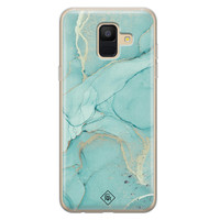 Casimoda Samsung Galaxy A6 2018 siliconen hoesje - Touch of mint