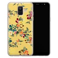Casimoda Samsung Galaxy A6 2018 siliconen hoesje - Floral days