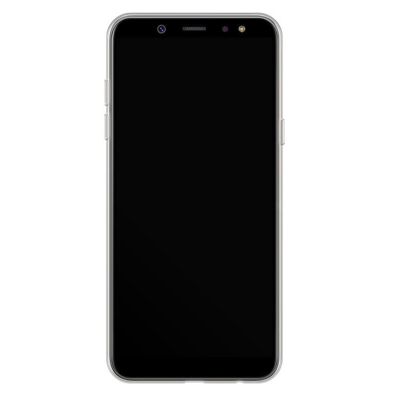 Casimoda Samsung Galaxy A6 2018 siliconen hoesje - Marmer roze
