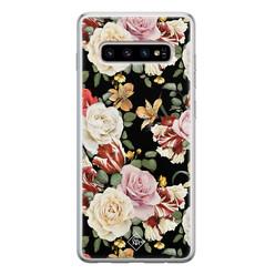 Casimoda Samsung Galaxy S10 siliconen hoesje - Flowerpower