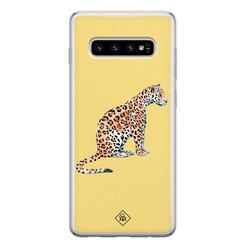 Casimoda Samsung Galaxy S10 siliconen hoesje - Leo wild