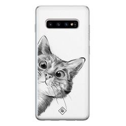Casimoda Samsung Galaxy S10 siliconen hoesje - Peekaboo