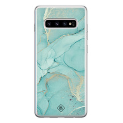 Casimoda Samsung Galaxy S10 siliconen hoesje - Touch of mint