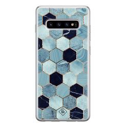 Casimoda Samsung Galaxy S10 siliconen hoesje - Blue cubes