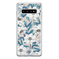 Casimoda Samsung Galaxy S10 siliconen hoesje - Touch of flowers