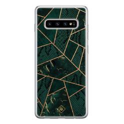 Casimoda Samsung Galaxy S10 siliconen hoesje - Abstract groen