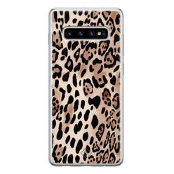 Casimoda Samsung Galaxy S10 siliconen hoesje - Golden wildcat