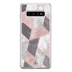 Casimoda Samsung Galaxy S10 siliconen hoesje - Stone grid