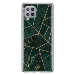 Casimoda Samsung Galaxy A42 siliconen hoesje - Abstract groen