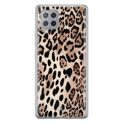 Casimoda Samsung Galaxy A42 siliconen hoesje - Golden wildcat