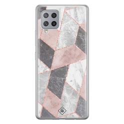 Casimoda Samsung Galaxy A42 siliconen hoesje - Stone grid