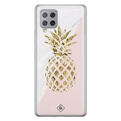 Casimoda Samsung Galaxy A42 siliconen hoesje - Ananas