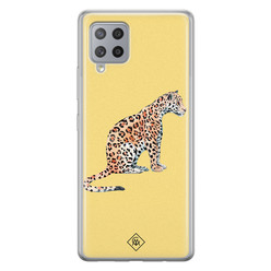 Casimoda Samsung Galaxy A42 siliconen hoesje - Leo wild
