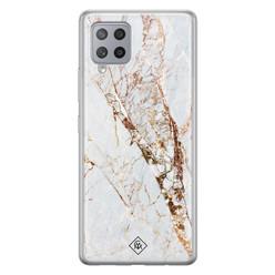 Casimoda Samsung Galaxy A42 siliconen hoesje - Marmer goud