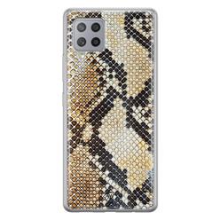 Casimoda Samsung Galaxy A42 siliconen hoesje - Golden snake