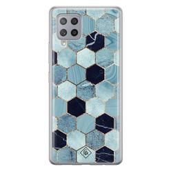 Casimoda Samsung Galaxy A42 siliconen hoesje - Blue cubes