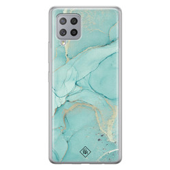 Casimoda Samsung Galaxy A42 siliconen hoesje - Touch of mint