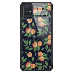 Casimoda Samsung Galaxy A71 glazen hardcase - Orange lemonade
