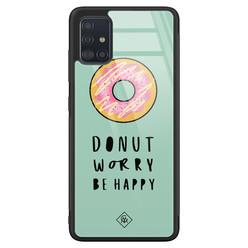 Casimoda Samsung Galaxy A71 glazen hardcase - Donut worry