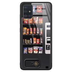 Casimoda Samsung Galaxy A71 glazen hardcase - Snoepautomaat