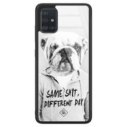 Casimoda Samsung Galaxy A71 glazen hardcase - Bulldog